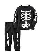 Carters® 2-pc. Skeleton T-shirt & Pants - Baby 0-18 Mos.