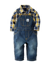 Carters® 2-pc. Plaid Print Bodysuit & Overalls Set - Baby 0-24 Mos.