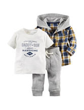 Carters® 3-pc. Daddy & Son T-shirt & Pants Set - Baby 0-24 Mos.