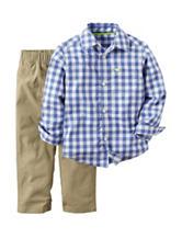 Carter's® 2-pc. Plaid Print Top & Pants Set - Toddler Boys