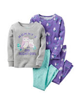 Carters® 4-pc. Mommys Little Night Owl Pajama Set - Baby 12-24 Mos.