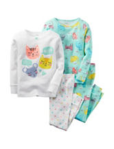 Carter's® 4-pc. Kitty Pajama Set - Baby 12-24 Mos.