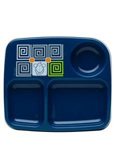 Zak Designs Blue Monkey 3-Section Microwave Safe Plate