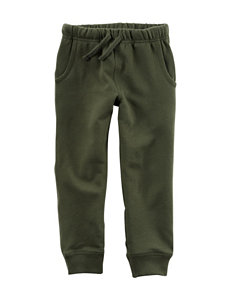 Carter's® Olive French Terry Jogger Pants – Boys 4-8