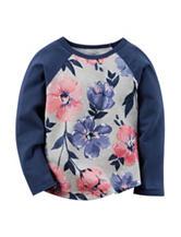 Carter's® Floral Print Raglan Top – Toddler Girls
