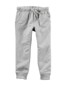 Carter's® Heather Grey French Terry Jogger Pants – Boys 4-8