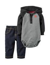 Carters® 2-pc. Hoody Bodysuit & Pants Set - Baby 0-18 Mos.