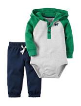 Carters® 2-pc. Hoodie Bodysuit & Pants Set - Baby 0-18 Mos.