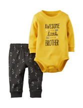 Carters® 2-pc. Awesome Little Brother Bodysuit & Pants Set - Baby 0-18 Mos.