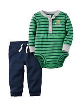 Carter's® 2-pc. Striped Henley Bodysuit & Pants Set - Baby 0-18 Mos.