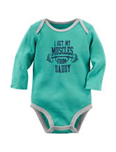 Carter's® Teal Muscles From Daddy Bodysuit – Baby 0-9 Mos.
