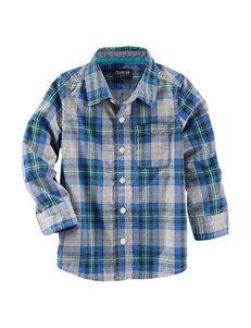 Oshkosh B'Gosh Blue Casual Button Down Shirts