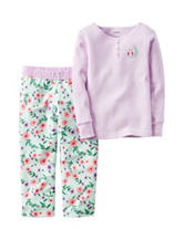 Carters® 2-pc. Owl Top & Floral Print Pants Set - Toddler Girls