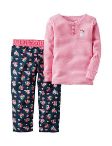 Carter's® 2-pc. Mouse Striped Pajama Set – Girls 4-8
