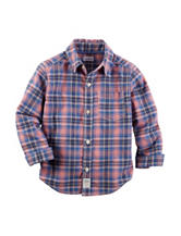 Carter's® Multicolor Plaid Print Poplin Woven Shirt – Boys 4-8
