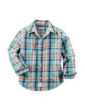 Carter's® Multicolor Plaid Print Woven Poplin Shirt – Boys 4-8