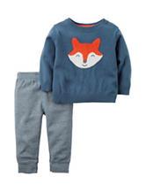 Carter's® Fox Face Print Sweater & Pants Set - Baby 3-18 Mos