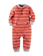 Carter's® Stripe Print Terry Coverall – Baby 0-12 Mos.