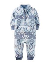 Carter's® Aztec Print Fleece Coverall - Baby 0-12 Mos.