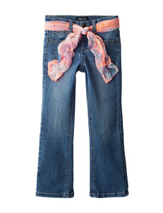 Squeeze Embroidered Floral Print Bootcut Jeans - Girls 4-6x