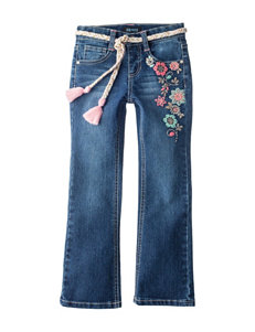 Squeeze Embroidered Flower Bootcut Jeans – Toddlers & Girls 4-6x