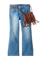 Squeeze Bootcut Jeans with Purse – Girls 4-6x