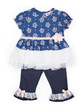 Little Lass Chambray Tulle Leggings Set - Baby 3-9 Mos.