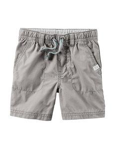 Carter's® Grey Poplin Shorts – Toddler Boys