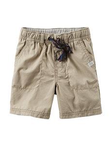 Carter's® Khaki Poplin Shorts – Toddler Boys