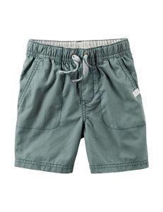 Carter's® Green Poplin Shorts – Toddler Boys