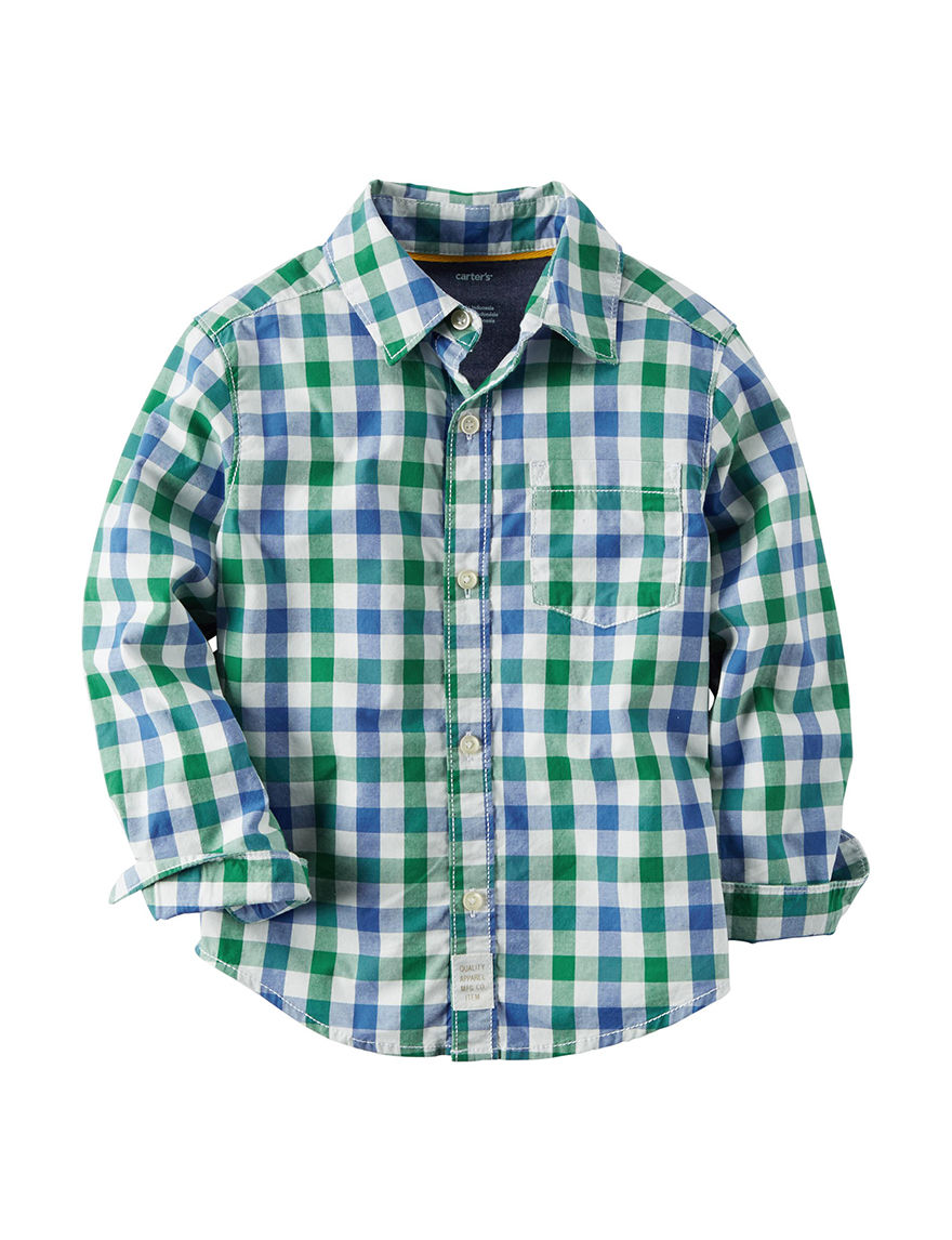 Carter's Plaid Casual Button Down Shirts