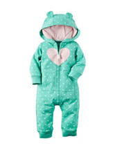 Carter's® Silver Heart Coverall - Baby 3-12 Mos.