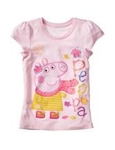 Peppa Pig Pink Autumn Leaves T-shirt – Girls 4-6x