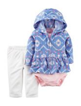 Carters® 3-pc. Aztec Print Fleece Jacket & Leggings Set - Baby 3-18 Mos.