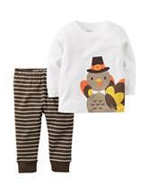 Carters® 2-pc. Turkey T-shirt & Leggings Set - Baby 0-12 Mos.