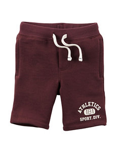 Carters® Burgundy Athletic French Terry Shorts - Toddler Boys
