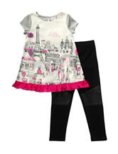 Youngland Paris Print Top & Leggings Set - Girls 4-6x