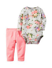 Carters® 2-pc. Floral Print Bodysuit & Leggings Set - Baby 0-18 Mos.