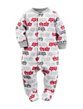 Carter's® Firetruck Microfleece Sleep & Play  – Baby 0-9 Mos.