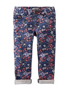 OshKosh Bgosh® Floral Print Twill Pants - Girls 4-6x