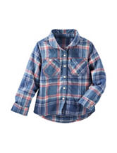 OshKosh B'gosh® Multicolor Plaid Print Woven Top - Toddler Girls