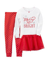 Carter's® 3-pc. Merry & Bright Top & Leggings Set - Toddler Girls