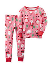 Carters® 2-pc. Santa Print Pajamas - Toddler Girls