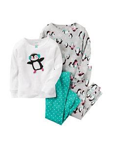 Carters® 4-pc. Skating Penguin Pajama Set - Toddler Girls