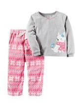 Carter's® 2-pc. Grey Top & Fairisle Print Pants Pajama Set - Toddler Girls