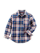 Carter's® Poplin Plaid Print Woven Shirt – Boys 4-8
