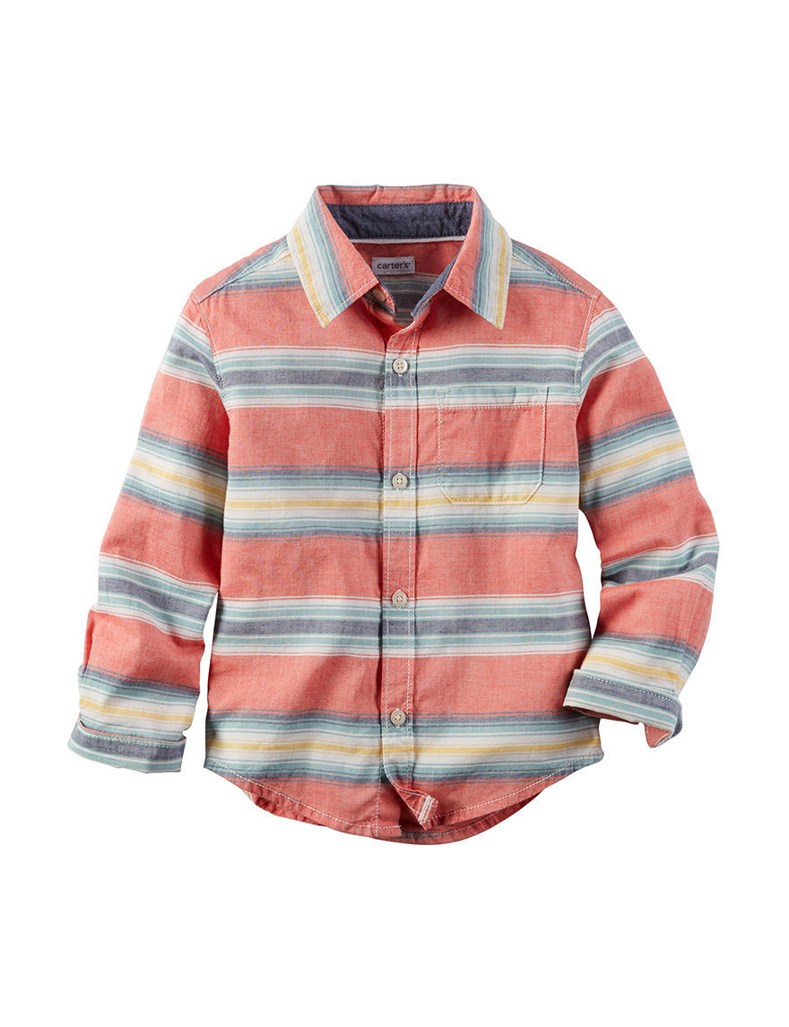 Carter's Stripe Casual Button Down Shirts
