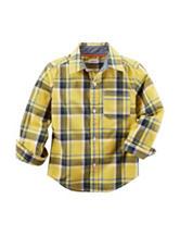 Carter's® Yellow Poplin Plaid Print Woven Shirt – Toddler Boys