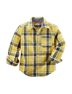 Carter's® Yellow Poplin Plaid Print Woven Shirt – Boys 4-8