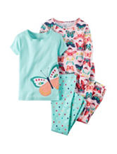 Carter's® 4-pc. Butterfly Pajama Set - Toddler Girls